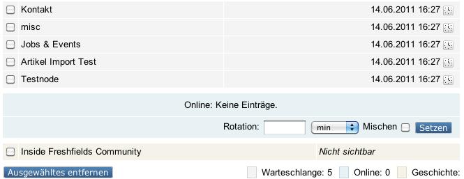 eZ Flow Warteschlange