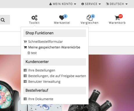 silver.eShop - Kundencenter für Hauptkontakt