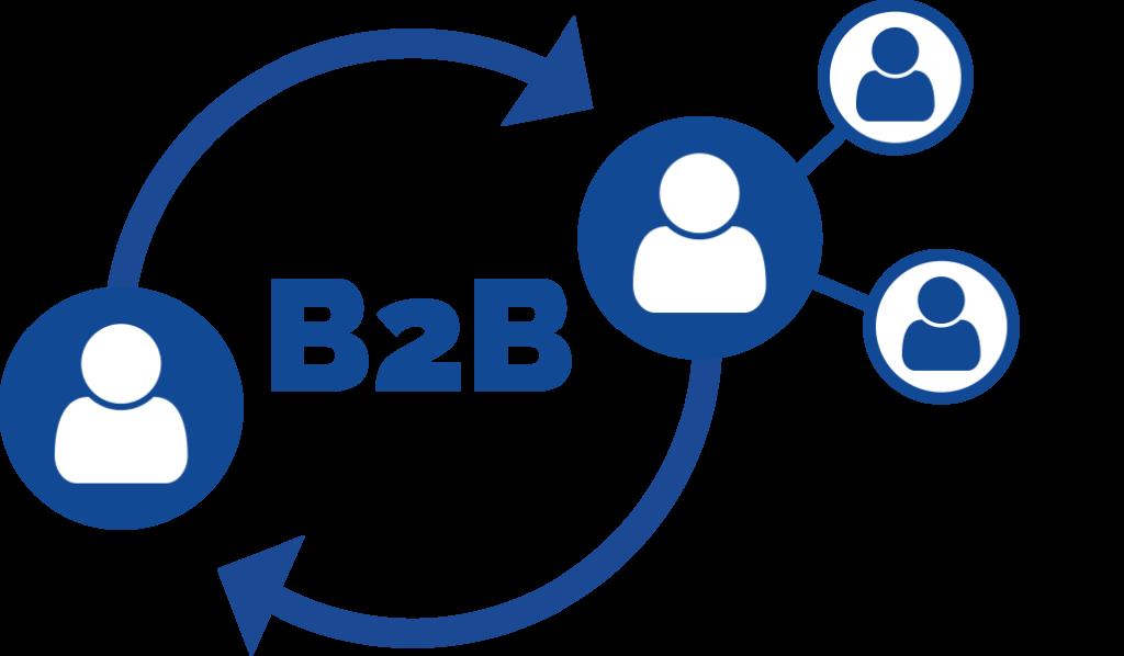 B2B Grafik Pfeile im Kreis mit B2B-Ableger