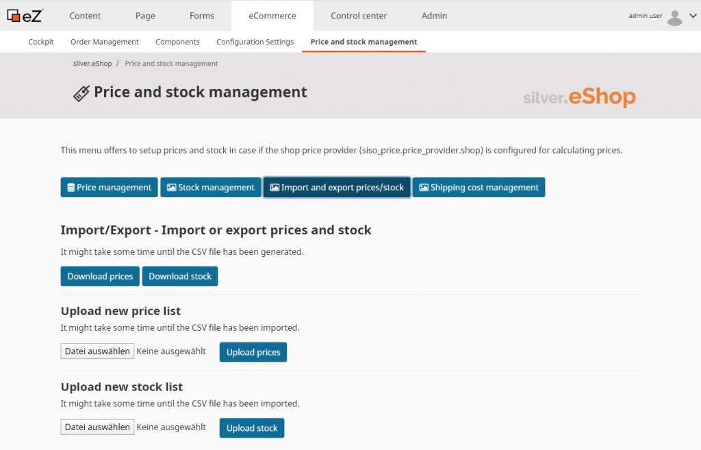 CSV Import Produkte Preise Verfügbarkeit im B2B Onlineshop